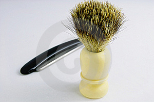 Old Razor And Brush Stock Photo - Image: 6932520