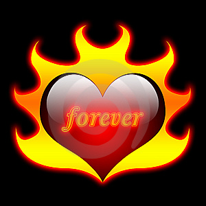 Heart Flames, Valentine, Love Stock Image - Image: 6976631