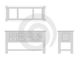 Bathroom Vanity Elevations Stock Image - Image: 6977031