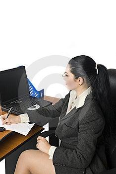 办公室女商人 免版税库存图片 - 图片: 6992099