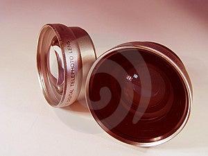 Objectif de caméra deux Images libres de droits