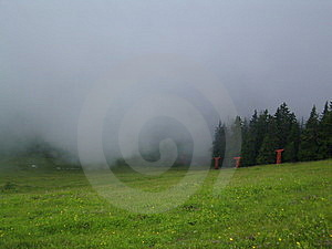 bewolkte dag Stock Foto's