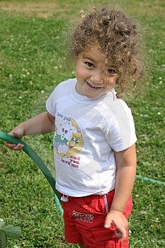 Watering Is Fun! Stock Image