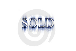 Word: Sold Stock Image