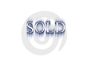 Palavra: Vendido Imagem de Stock