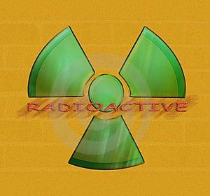 Зеленая радиация Стоковые Фотографии RF