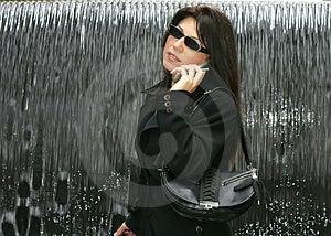 Woman Chatting Free Stock Photo