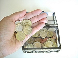 Treasure in hand Royalty Free Stock Photography