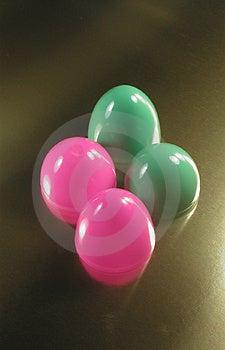 Plastic Easter Eggs Stock Photo