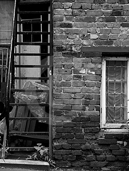 Window And Stairs Stock Image