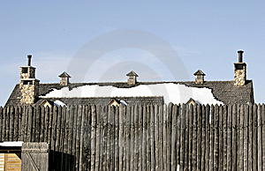 Fort And Roof Stock Photography