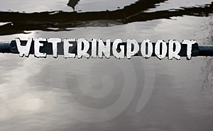 Canal name sign Royalty Free Stock Images