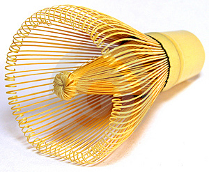 Traditional Tea Whisk Horizontal Position Stock Photo