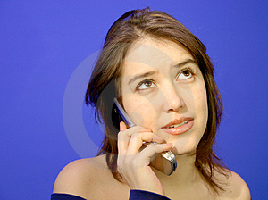 Girl On The Phone 9 Stock Images