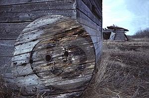 Ruota di legno Fotografia Stock