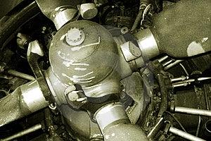 Vecchio motore Immagini Stock Libere da Diritti