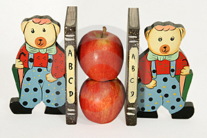 Apple Holders! Stock Images