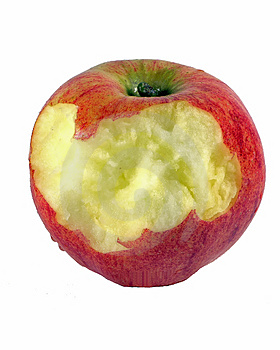 Chewed Apple Stock Image
