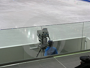During Zamboni Royalty Free Stock Images
