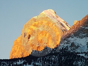 Winter dolomites sunrise Royalty Free Stock Image