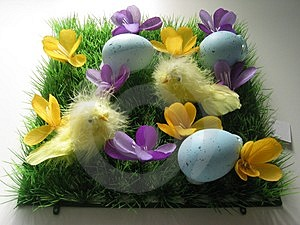Easter Arrangement Stock Photos