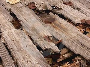 Carrete de madera putrefacto Imagenes de archivo