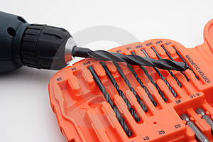 Power Drill And Bits Stock Image