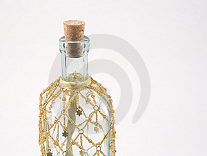 Decorated Glass Bottle Free Stock Photo