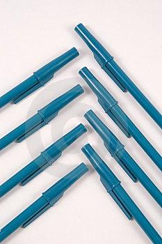 Blue Ballpoint Pens Free Stock Photos