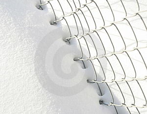 Snow And Fence Free Stock Image