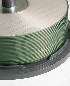 Стог компактов-дисков Стоковая Фотография