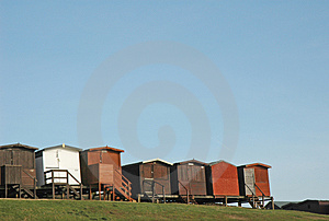 Beach Huts 2 Free Stock Photos