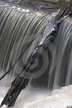 Iced Waterfall Free Stock Photography