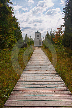 Lighthouse at Ridges Sanctuary 2 Stock Image