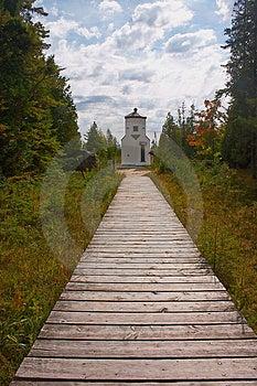 Lighthouse At Ridges Sanctuary 2 Stock Image