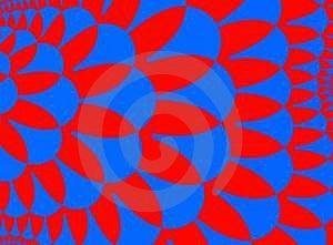 Μπλε κόκκινο Στοκ Φωτογραφία