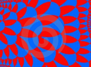 Blaues Rot Stockfotografie