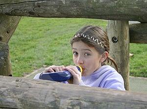Girl Drinking Stock Photos