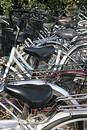 Bicycle parking lot. Royalty Free Stock Image