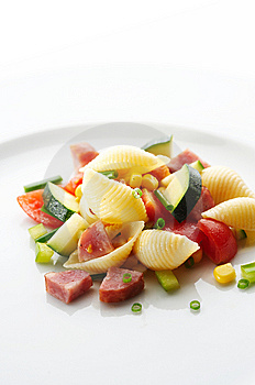 Pasta With Different Vegetables And Pork Sausage Stock Images - Image: 7007414