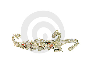 Silver Ritual Chinese Dagger Stock Images - Image: 7008934