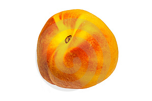 Isolated Peach Royalty Free Stock Images - Image: 7011319