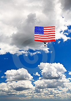 An American Flag Hot-air Balloon Royalty Free Stock Images - Image: 7011939