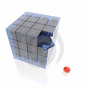 Cube From Cubes Royalty Free Stock Photography - Image: 7012387