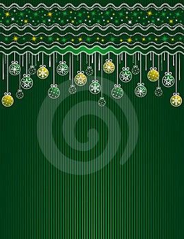 Green Christmas Card, Vector Stock Photos - Image: 7013203