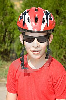 Boy In Helmet Stock Photo - Image: 7013450