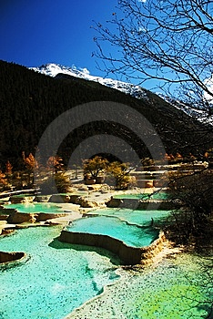 Miniscape Ponds In Huanglong Royalty Free Stock Image - Image: 7013796