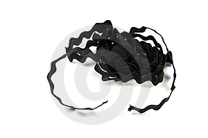 Wavy Black Ribbon Royalty Free Stock Images - Image: 7014249