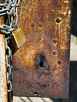 Rusted Keyhole Stock Photo - Image: 7015250