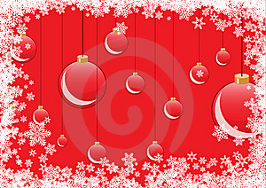 Red Christmas Balls Royalty Free Stock Image - Image: 7015646